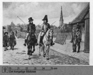 Amagerport ( i baggrunden ) - Skillingsbommen - og Ravelinen til højre