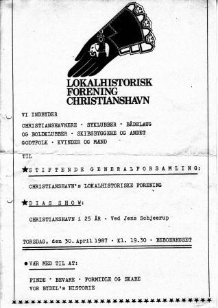 Indbydelse til den stiftende generalforsamling 30. April 1987