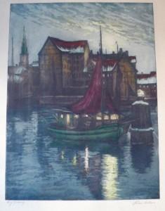 havnen-brogade og kirken