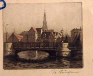 knippels bro med brogade og kirke